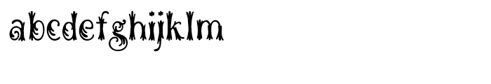 Woodball Regular Font LOWERCASE