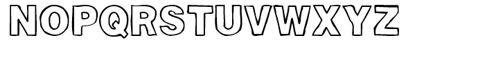 Woodcutter Plain Font UPPERCASE