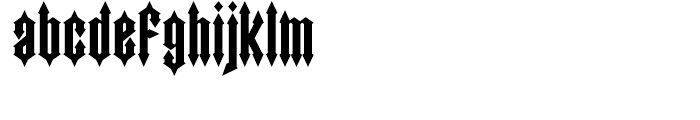 Wormwood Regular Font LOWERCASE