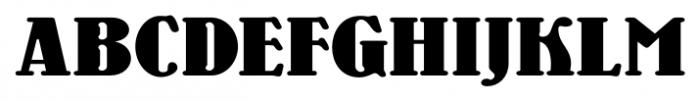 Wooden Nickel NF Pro Regular Font UPPERCASE