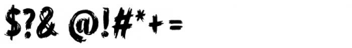 WORKSHOP Brush Font OTHER CHARS