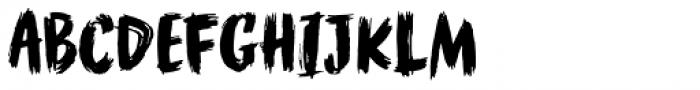 WORKSHOP Brush Font UPPERCASE