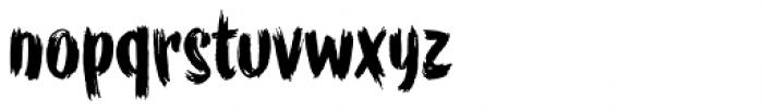 WORKSHOP Brush Font LOWERCASE