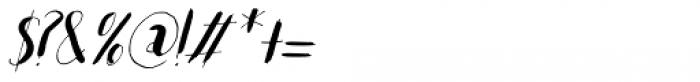 Woebegone Italic Font OTHER CHARS