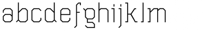 Wombat Light Font LOWERCASE