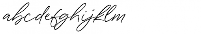 Wonder Bay Regular Font LOWERCASE