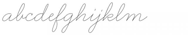 Wonderhand Semi Cond20 Thin Font LOWERCASE