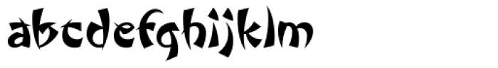Wonton ICG Font LOWERCASE