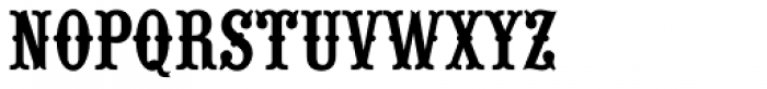 Wood Type URW D Font UPPERCASE