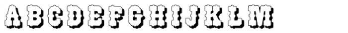 Wood Type518 Font LOWERCASE