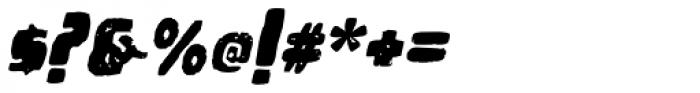 Woodchip Grunge Slant Font OTHER CHARS