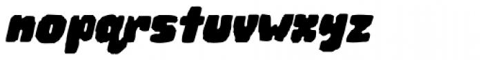 Woodchip Slant Font LOWERCASE