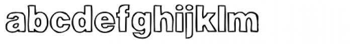 Woodcutter Plain Font LOWERCASE