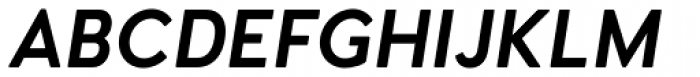Woodford Bourne PRO Semi Bold Italic Font UPPERCASE
