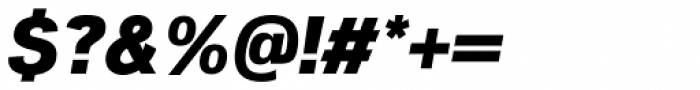Woolworth ExtraBold Italic Font OTHER CHARS