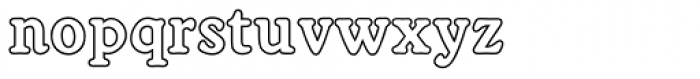 Worcest Round SH Bold Outline Font LOWERCASE