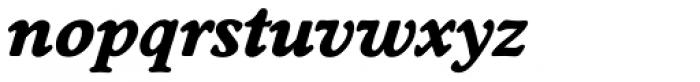 Worchester EF Bold Italic Font LOWERCASE