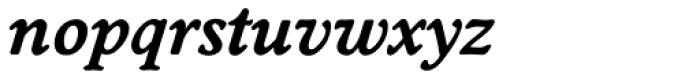 Worchester EF DemiBold Italic Font LOWERCASE
