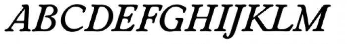 Worchester EF Medium Italic Font UPPERCASE
