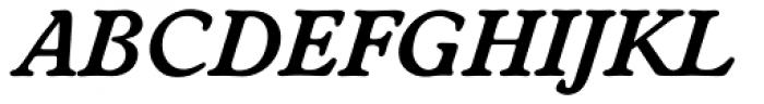 Worchester TS DemiBold Italic Font UPPERCASE