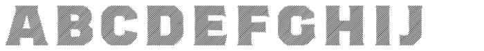 Worker 3D Lines Font UPPERCASE