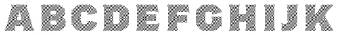 Worker 3D Lines Font LOWERCASE
