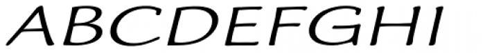 Worstveld Hand Expanded Oblique Font UPPERCASE