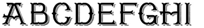 Worthing Shaded Font UPPERCASE