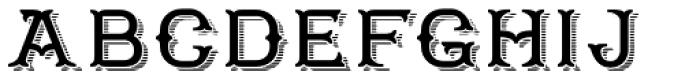 Worthing Shaded Font LOWERCASE