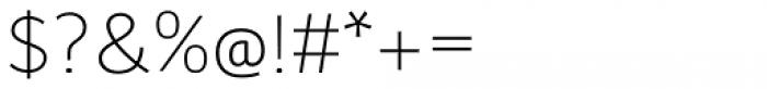 Wozniak Thin Font OTHER CHARS