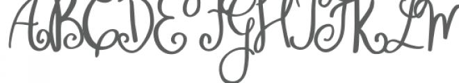 Wonderful Perfect Font UPPERCASE