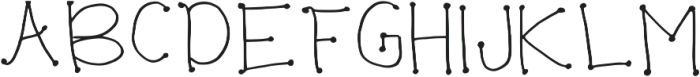 Wrinkles Regular otf (400) Font UPPERCASE