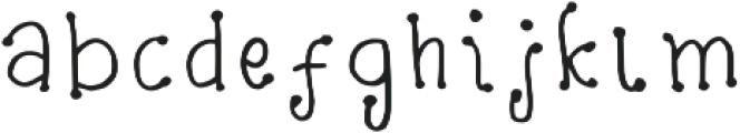 Wrinkles Regular otf (400) Font LOWERCASE