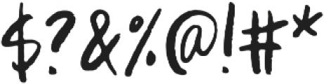 WriteHanded Regular otf (400) Font OTHER CHARS