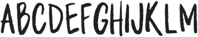 WriteHanded Regular otf (400) Font UPPERCASE