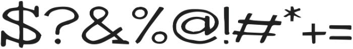 Writero otf (400) Font OTHER CHARS