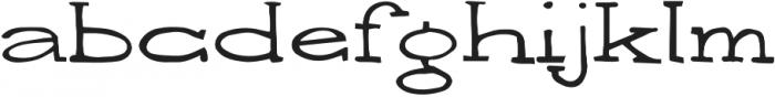 Writero otf (400) Font LOWERCASE