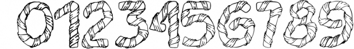 Wrapped in ribbon sketch font Font OTHER CHARS