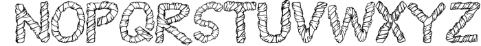 Wrapped in ribbon sketch font Font UPPERCASE