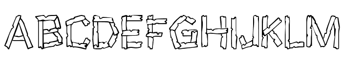 Wreckage Font UPPERCASE