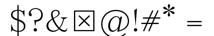 Wremena-Light Font OTHER CHARS