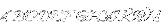 Wrenn Initials Embossed Font UPPERCASE