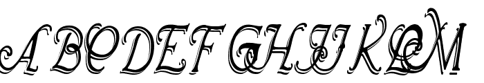 Wrenn Initials Shadowed Cond Font UPPERCASE