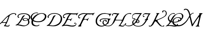Wrenn Initials Font UPPERCASE