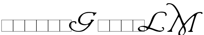 Wrenn Initials Font LOWERCASE