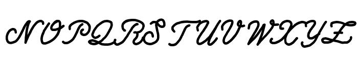 Write Righ Script Font UPPERCASE