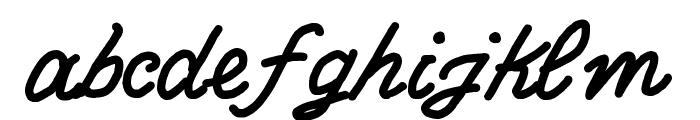 Write Righ Script Font LOWERCASE