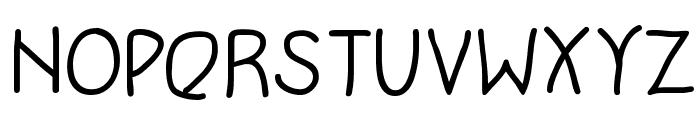 WritersFont Font UPPERCASE