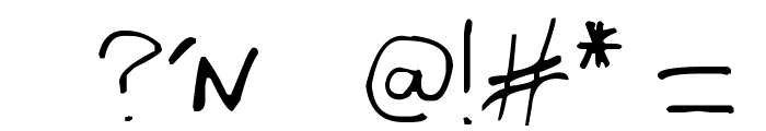 Writing You A Letter Font OTHER CHARS