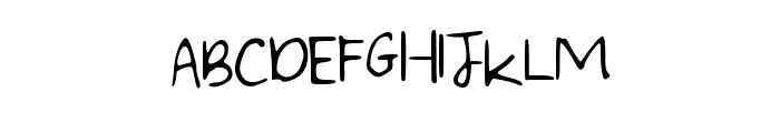 WritingintheCar Font UPPERCASE